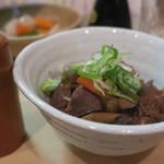 隼 - 砂肝と野菜の煮込み