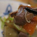 隼 - 砂肝と野菜の煮込み喰らう