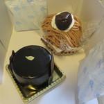 フランス菓子ロンポワン - 料理写真:モンブラン、ミロワールショコラ