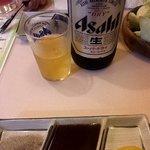 串芳 - ビール飲んで。