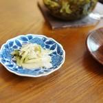 原宿はしづめ - 先付:青搾菜