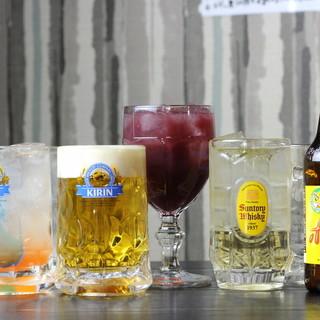 定番ビールはお肉料理と♪自家製サングリアやカップ酒もご用意◎