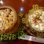 83118014 - 『心龍特製白マ-ボ-豆腐(元祖)』と『心龍特製チャ-ハン』