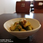 そば処 椿野 - 料理写真:アボガドと海老のわさび醤油和え