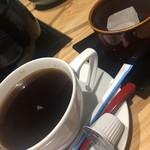 京都 瓢喜 - デザートの珈琲と胡桃餅 出汁しゃぶとセットです あらお得