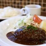 洋食レストラン 犇屋 - 犇屋ハンバーグステーキ980円