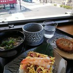 錦帯茶屋 - 岩国寿司うどんセット