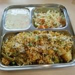 カフェと印度家庭料理 レカ - ベジプラオ1000円 ライタ、サラダ付き