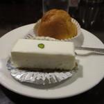 西洋菓子しろたえ - レアチーズケーキとシュークリーム