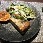 プラス カーサ ラウンジ - ランチの前菜   野菜サラダ、キッシュ、エッグタルト