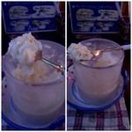 ミルク村 - アイスクリームにリキュールをかけます!