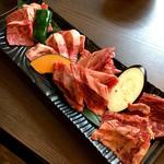 炭火dining ABURI - 牛カルビ4種盛り 3000円