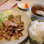 彩門 - 豚ガーリック定食