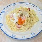 ミント - 料理写真:カルボナーラスパゲティ¥850