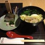 83141121 - 鯖寿しと野菜煮麺