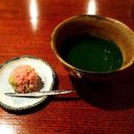 83141274 - 濃茶(北野の昔)と生菓子(ヤマザクラ)