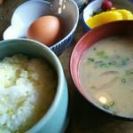 らくだ山 地鶏の店 - 地鶏炭火焼定食 ¥1780 の、セット