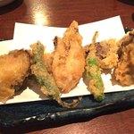 手だれ屋敷 九段下 - 牡蠣の天ぷら
