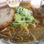 蔵前元楽総本店 - スープが足りない…