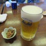 魚繁 - 生ビール2018.03.25