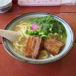 スリーピース - 料理写真:久米島そばアーサー入り(750円)