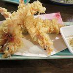 食菜鮮魚 たか家 - 車海老の天ぷら
