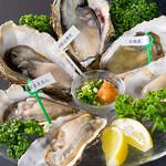 <生牡蠣の食べ比べ…1,200円~>3種・6種・7種