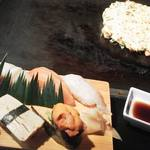 83157379 - お好み焼きと寿司