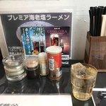 鬼そば 藤谷 - 水 調味料