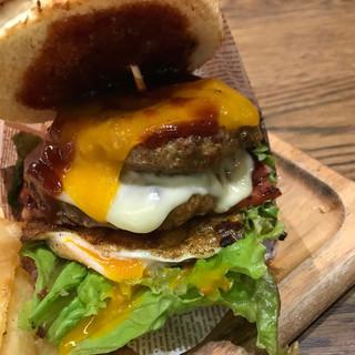 肉が旨いカフェ NICK STOCK 筑紫通り店 - スペシャルバーガー