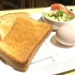 マイブレンド - トースト、玉子、サラダ