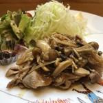 アブルボア - 豚肉生姜焼き定食 900円(税込)