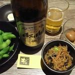 土間土間 八重洲店 - 枝豆、味たま、お通し。