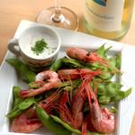 ヤマガタ サンダンデロ - 赤海老と枝豆