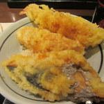 丸亀製麺 - 鰆天、ちくわ天、海老天