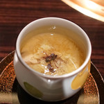 焼肉 銀座コバウ - テール出汁茶碗蒸し銀杏椎茸菊芋入り