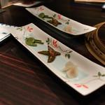 焼肉 銀座コバウ - ウドナムル、スナップエンドウキムチ、コゴミナムル