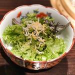 焼肉 銀座コバウ - 宮崎産からすみとジャコサラダ