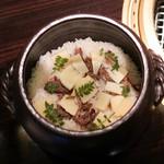 焼肉 銀座コバウ - テール入り土鍋ご飯