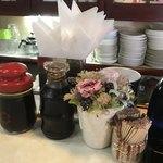 喫茶 田川 - このニンニクソースがまた美味い!