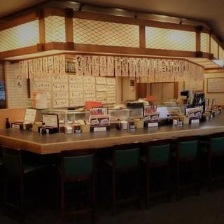 昔ながらの落ち着く空間◎やっぱり寿司屋はこうでなくっちゃ!