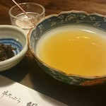 串天ぷら 段々屋 - お漬物 てんつゆ お塩
