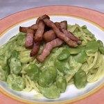 空豆たっぷりグリーンカルボナーラ