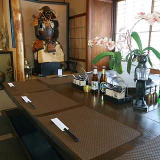 お茶屋の趣をそのままにした空間は、和の情緒に溢れる雰囲気◎