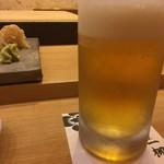 すし家 一柳 - 生ビール
