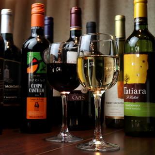 世界各地から厳選したワインをご提供。その極上の味に舌鼓…。