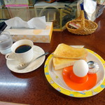 杉大門 - 料理写真:ホットコーヒーモーニング450円