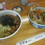 あわの食堂 - 料理写真:天丼とそばのセット1,300円