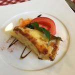 レストラン ヴィーニュ - 玉葱とベーコンのキッシュ