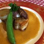 レストラン ヴィーニュ - 定番!豚バラ煮のフライパン焼き仕上げ